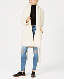 Free People Bo Peep Open-Front Sweater Coat