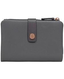 Larks Wood Medium Tab Pebble Leather Wallet