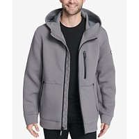 DKNY Mens Full-Zip Hooded Scuba Jacket Deals