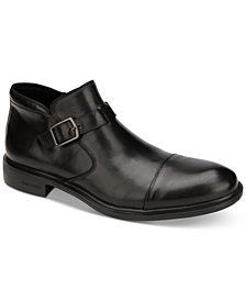 Kenneth Cole Men's Garner Leather Cap-Toe Boots