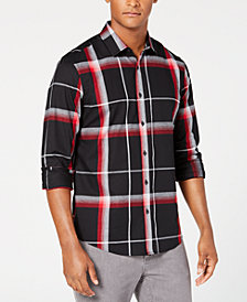 Alfani Men's Brushed Plaid Shirt, Created for Macy's