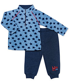 Tommy Hilfiger Baby Boys 2-Pc. Fleece Pullover & Jogger Pants Set