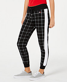 Tommy Hilfiger Sport Plaid Jogger Pants, Created for Macy's