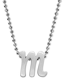 "Lowercase Initial 16"" Pendant Necklace in Sterling Silver"