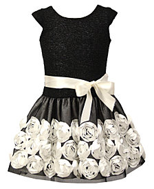 Jayne Copeland Toddler Girls Soutache Floral Dress