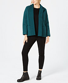 Eileen Fisher Wool Jacket, Side-Stripe Top & Slim-Leg Pants