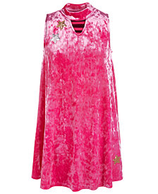 Epic Threads Big Girls Crushed Velvet Mock-Neck Dress, Created for Macy's