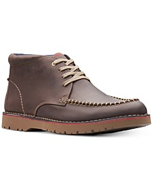 Men's Vargo Apron-Toe Leather Chukka Boots, Created for Macy's