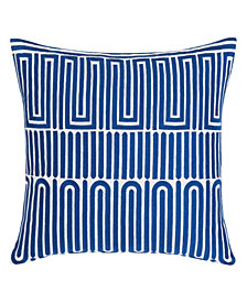Trina Turk Racket Club Geo Aqua Square Pillow