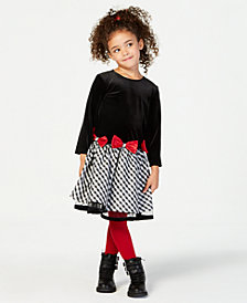 Jayne Copeland Plaid-Skirt Dress, Little Girls (4-6X)