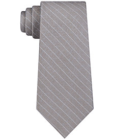 DKNY Men's Herringbone Stripe Slim Silk Tie