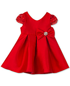 Rare Editions Baby Girls Pleated Cap-Sleeve Dress