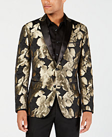 I.N.C. Men's Slim-Fit Gold Floral Blazer, Created for Macy's