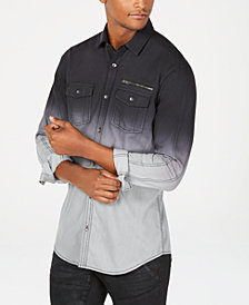 I.N.C. Men's Regular Fit Dip Dyed Shirt, Created for Macy's