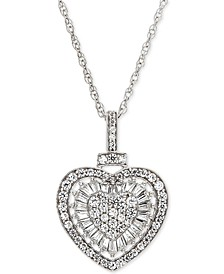 "Diamond Heart 18"" Pendant Necklace (1/2 ct. t.w.)  in 14k Rose Gold (Also Available in White Gold)"