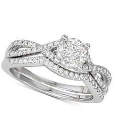 Diamond Twist Bridal Set (3/4 ct. t.w.) in 14k White Gold