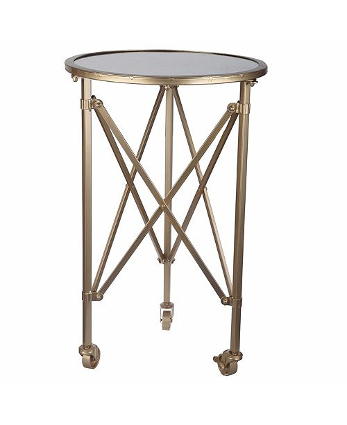 Benzara Stunningly Trimmed Tennyson Side Table