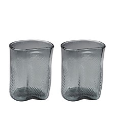 Grey Fish Net Glass Vase - Set of 2