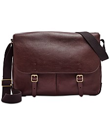 f74447152236 Fossil Men s Leather Buckner Messenger Bag