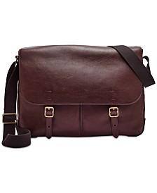 e1b94f4c42 Fossil Men s Leather Buckner Messenger Bag