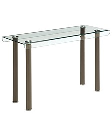 Karnette Glass Top Sofa Table