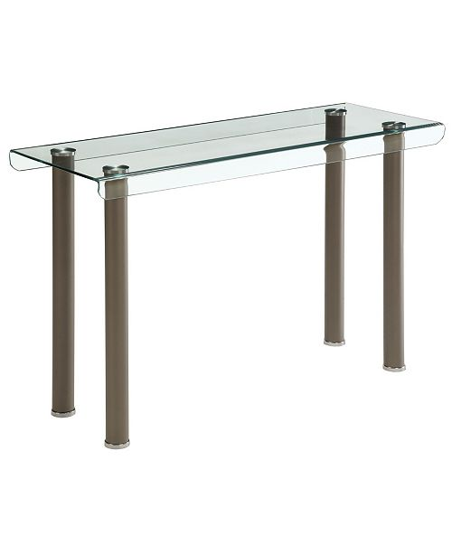 Furniture of America Karnette Glass Top Sofa Table