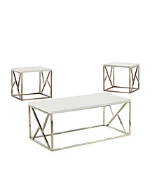 Deyona White 3-Piece Table Set