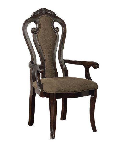 Furniture of America Katuy Walnut Armchair (Set of 2)