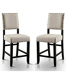 Langly Upholstered Pub Chair (Set of 2)