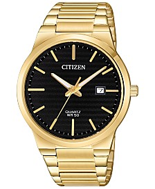 Citizen Men's Quartz Gold-Tone Stainless Steel Bracelet Watch 39mm