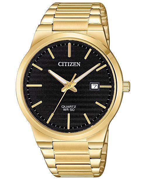 Citizen Men's Quartz Gold-Tone Stainless Steel Bracelet Watch 39mm