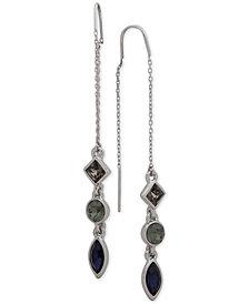 DKNY Triple-Crystal Threader Earrings, Created for Macy's