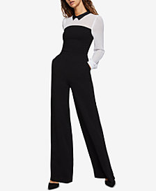 BCBGeneration Colorblocked Layered-Look Jumpsuit