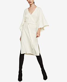 BCBGMAXAZRIA Faux-Wrap Robe Dress