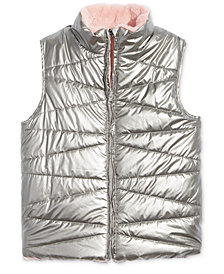 Epic Threads Big Girl Reversible Faux-Fur Vest, Created for Macy's