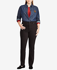 Lauren Ralph Lauren Plus Size Denim Cotton Shirt