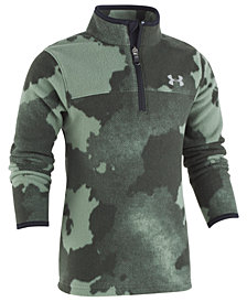 Under Armour Little Boys Traverse Camo-Print 1/4-Zip Fleece Shirt