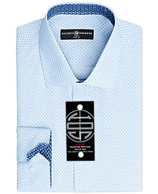 Society of Threads Men's Slim-Fit Non-Iron Performance Print Dress Shirt