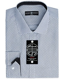 Men's Slim-Fit Non-Iron Performance Pattern Dress Shirt