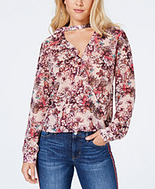GUESS Elsa Ruffled Choker Top