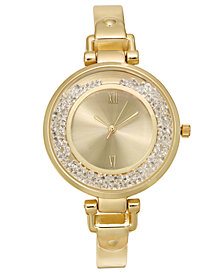 Charter Club Women's Gold-Tone Bangle Bracelet Watch 35mm, Created for Macy's