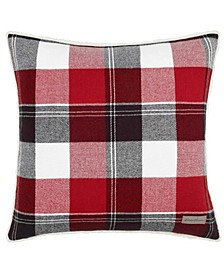 Lodge Dark Red Square Pillow