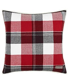 Eddie Bauer Lodge Dark Red Square Pillow