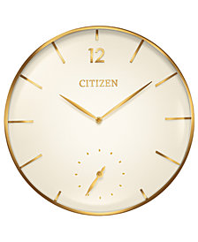 Citizen Gallery Gold-Tone Wall Clock