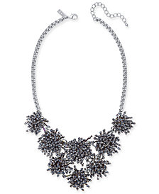 "I.N.C. Silver-Tone Iridescent Bead Burst Statement Necklace, 18"" + 3"" extender, Created for Macy's"