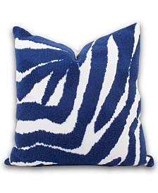 Blue Zebra Pillow