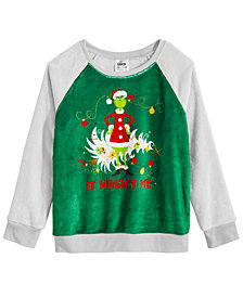 Universal Studios Big Girls The Grinch Sweatshirt
