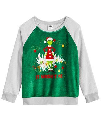 Universal Studios Big Girls The Grinch Sweatshirt Sweaters Kids
