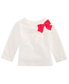 First Impressions Baby Girls Beautiful-Print Bow Sweatshirt, Created for Macy's