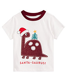 First Impressions Toddler Boys Santa-Saurus Cotton T-Shirt, Created for Macy's